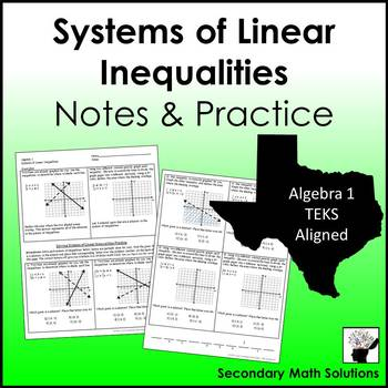 Systems of Inequalities Notes & Practice