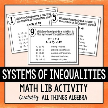 Systems of Inequalities Math Lib