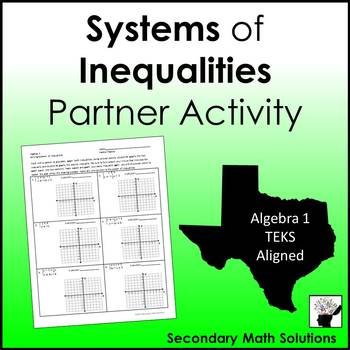Systems of Inequalities Partner Activity