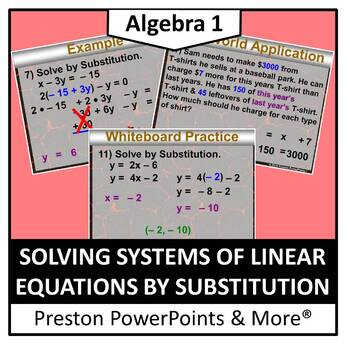 (Alg 1) Solving Systems of Linear Equation by Substitution