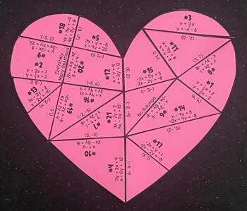 Systems of Linear Equations (Heart- Shaped Puzzle)