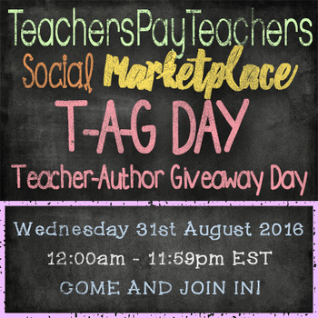 T-A-G DAY - Teacher-Author Giveaway Day - 31st August 2016