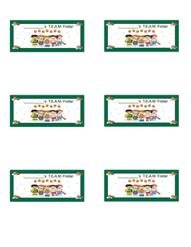 T.E.A.M. Folder Labels