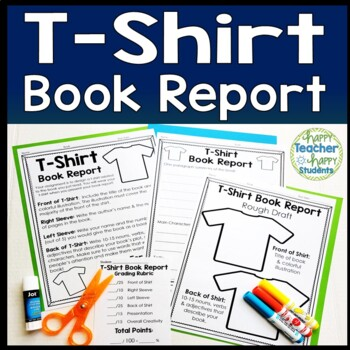 T-Shirt Book Report: Students Love to Decorate a T Shirt f