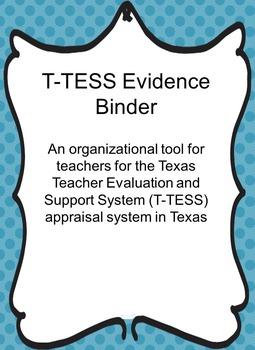 T-TESS Evidence Binder Blue Dot
