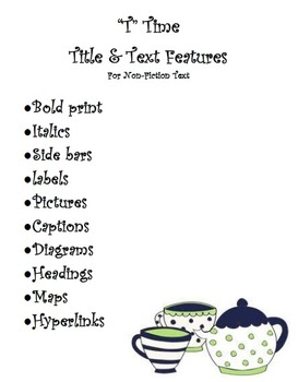 """""""T"""" Time - Title & Text Features For Non-Fiction"""