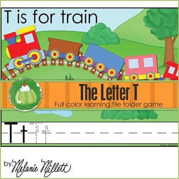 T is for Train File Folder Game