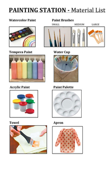 TAB Painting Station Materials