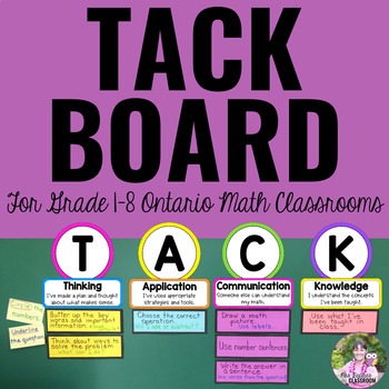 T.A.C.K. Board for the Ontario Mathematics Classroom
