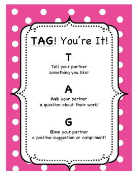 TAG! You're It! - Center Directions & Peer Conferencing