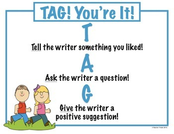 TAG You're It - Writer's Workshop - Sharing Mini Poster