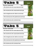 TAKE 5 - Set #1 - Grammar & Sentence Writing Skills - Comm