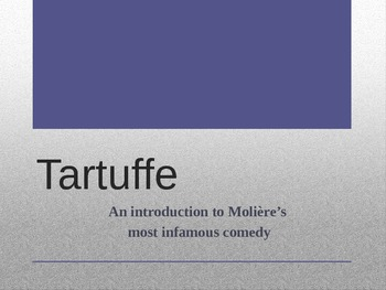 TARTUFFE: An introduction to Molière's most infamous play