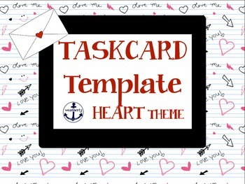 TASK CARD template Valentine's Day