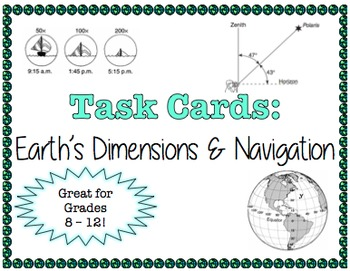 TASK CARDS - Earth's Dimensions and Navagation