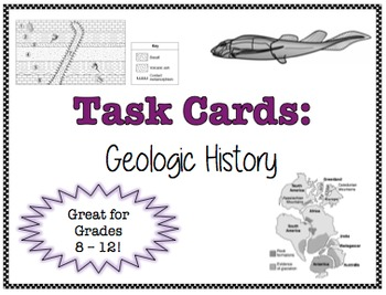 TASK CARDS - Geologic History *FREEBIE!*