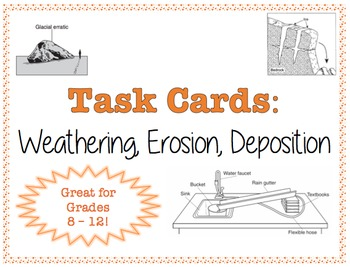 TASK CARDS - Weathering, Erosion, Deposition