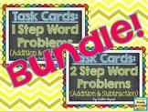 TASK CARDS - Word Problem Bundle (1 & 2 Step)