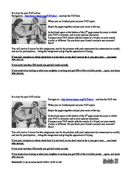Psychology TAT Online Activity Thematic Apperception Test
