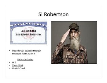 TAXES: Si Robertson Tax Return