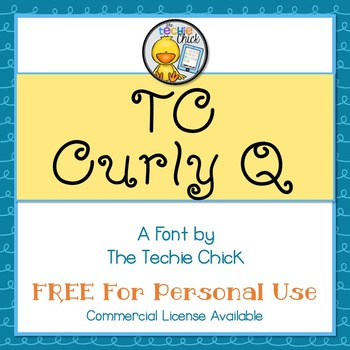 TC Curly Q font - Personal Use