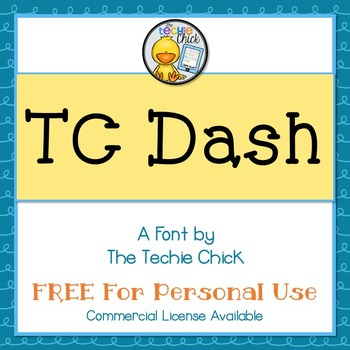 TC Dash font - Personal Use