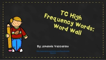 TC High Frequency Word Wall Words