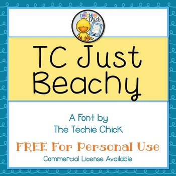 TC Just Beachy font - Personal Use