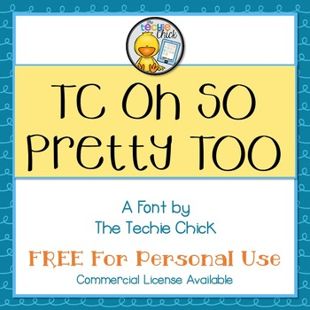 TC Oh So Pretty Too font - Personal Use