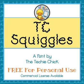 TC Squiggles font - Personal Use