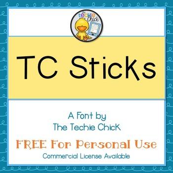 TC Sticks font - Personal Use