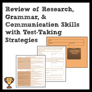 ELA  Review of Research, Grammar, and Communication w/ Tes