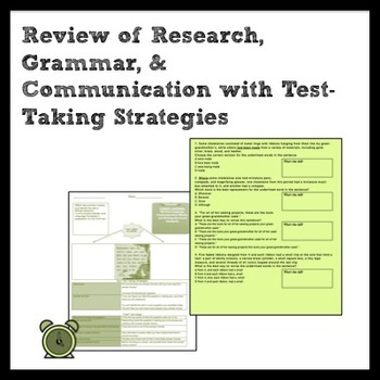 ELA: Mixed Skill Review and Quiz for Writing/Research & Co