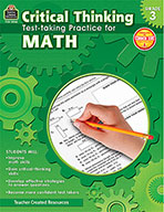 Critical Thinking: Test-taking Practice for Math Grade 3 (