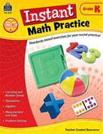 Instant Math Practice: Kindergarten
