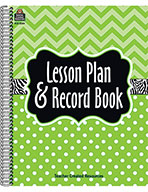 Lime Chevrons and Dots Lesson Plan & Record Book (Endhance