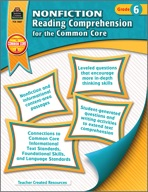 Nonfiction Reading Comprehension for the Common Core Grade