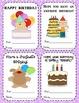 TEACHER BIRTHDAY AWARDS - FOR STUDENTS