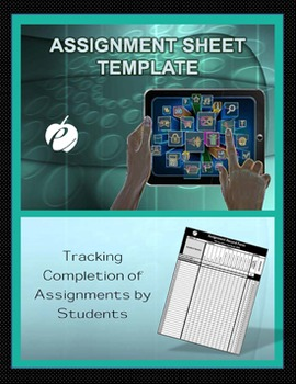"""ASSIGNMENT FORM TEMPLATE (Excel) """"Form for Recording Stude"""