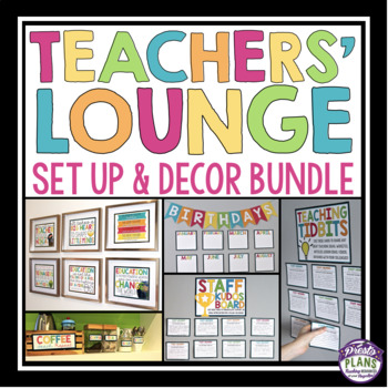 TEACHERS' LOUNGE / STAFFROOM SET UP AND DECOR BUNDLE