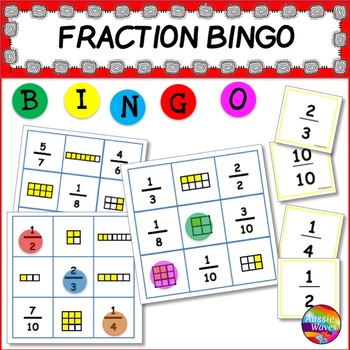 TEACHING FRACTIONS Maths Center Activity FRACTION BINGO GAME