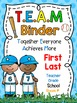 TEAM Binder Covers **EDITABLE**
