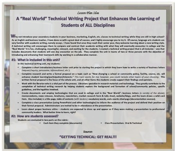 "TECHNICAL WRITING a ""Real World"" LESSON PLAN for Teachers"