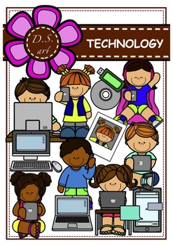 TECHNOLOGY Digital Clipart (color and black&white)