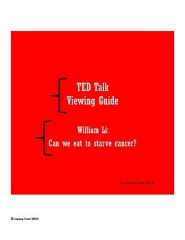 TED Talk Viewer Guide: Can we eat to starve cancer?