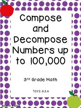 TEK 3.2.A Compose and Decompose Numbers up to 100,000 Scav