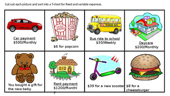 TEK 4.10A Fixed and Variable Expenses Entire Lesson word p