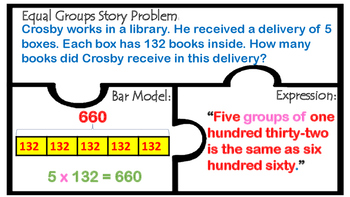 TEK 4.4D Multiplication 2 & 3 digit factors  Word Problems