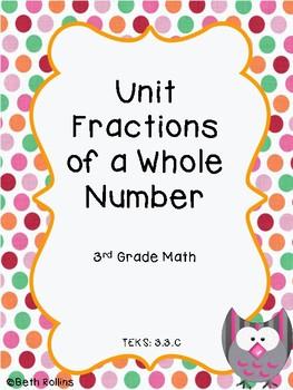 TEKS 3.3.C Unit Fraction of a Whole Number Scavenger Hunt