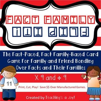 TEKS 3.4F  Fact Family Flip It! 9's